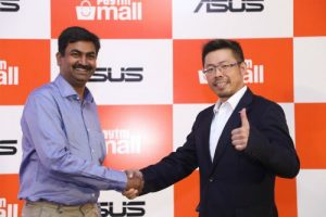 Amit Sinha, COO-Paytm Mall and Leon YU, Regional Head South Asia & India, Asus India