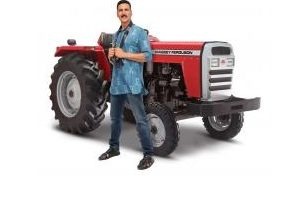 Tractors and Farm Equipment Limited signs on Akshay Kumar