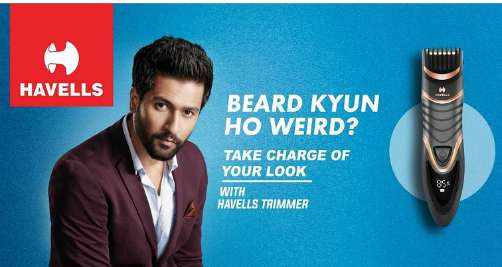 Havells Brand Ambassador Vicky Kaushal for its men's grooming range