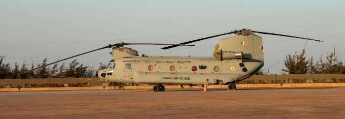 Boeing Chinook military helicopters