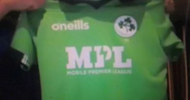 MPL sponsors Ireland Men's Cricket Team Jerseys
