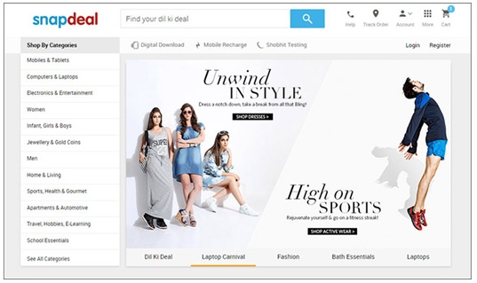 Snapdeal-changes-its-website-and-App-look