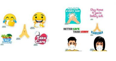 Bobble Health-themed emoticons and stickers