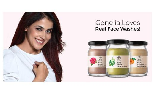 Genelia joins the Brillare family in supporting the chemical-free face wash range